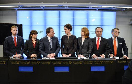 Les partis de gouvernement, en Suède, après la signature de l'accord