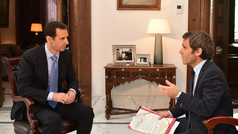 Bachar Al-Assad interviewé par David Pujadas