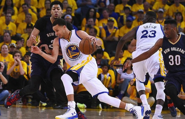 Steph Curry vs Athony Davis, Playoffs 2015