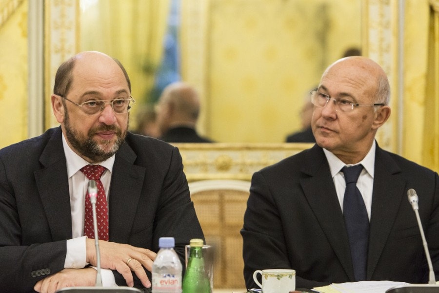 Michel Sapin avec Martin Schulz