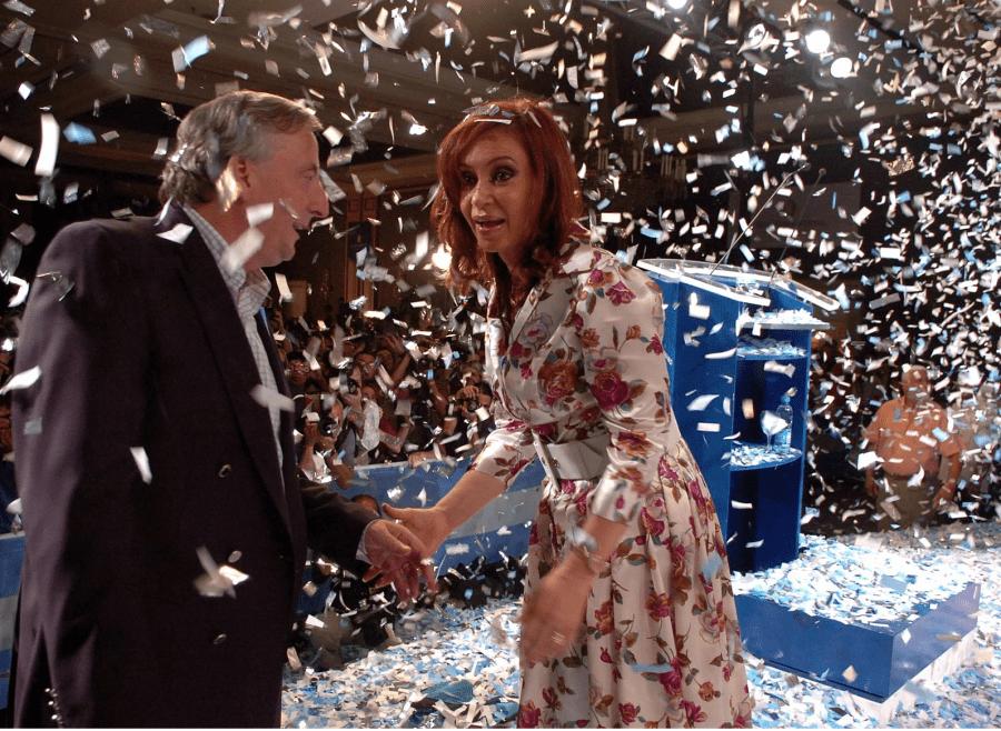 Nestor et Cristina Kirchner aux élections de 2007