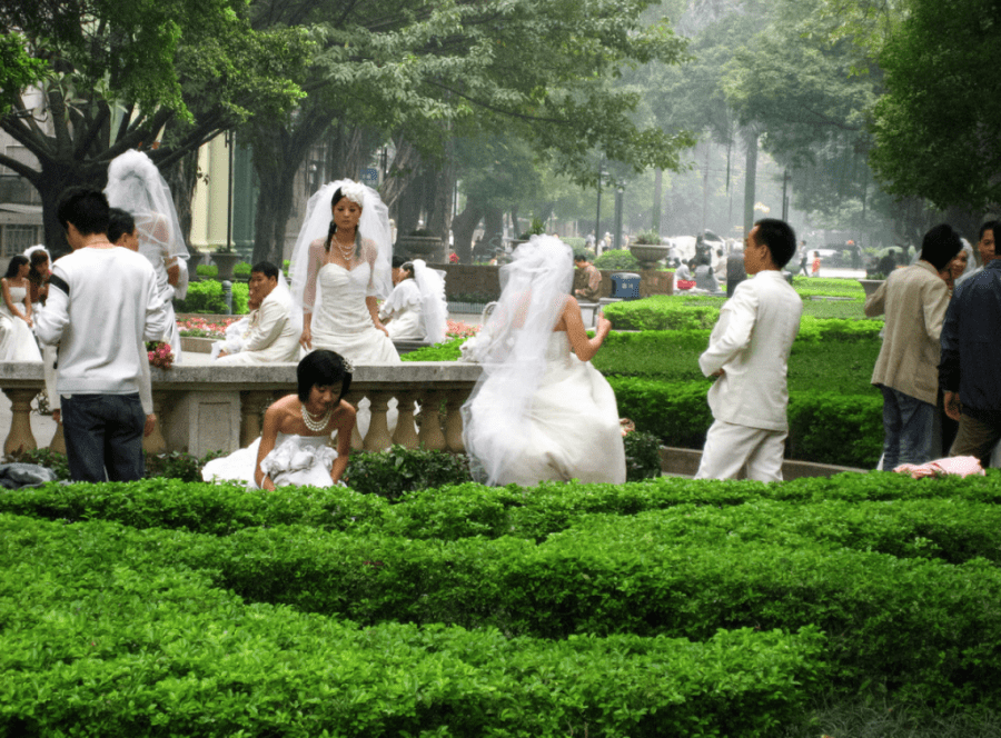Préparation de mariages en Chine