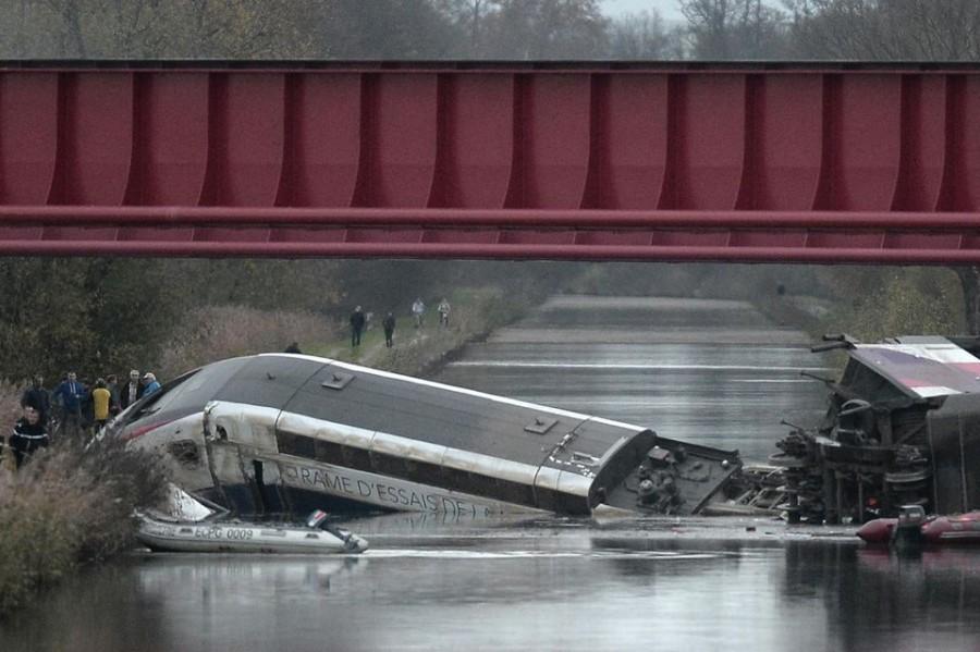 Train qui a déraillé en Alsace