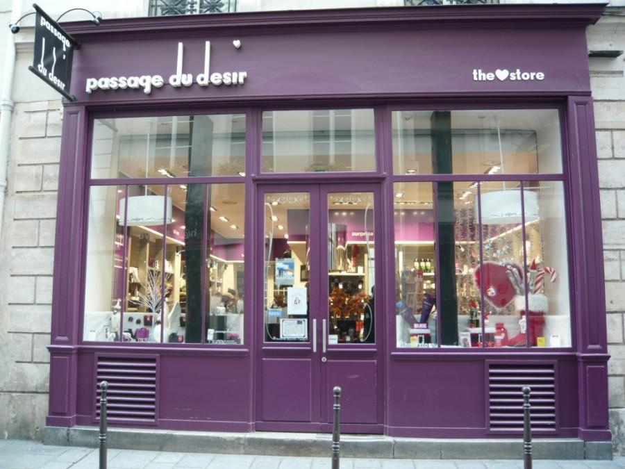 Une boutique Passage du désir. Il en existe 4 à Paris, une à Lille et à Marseille.