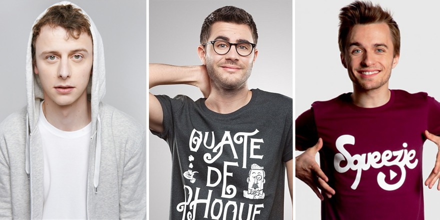 Les youtubers Squeezie, Norman et Cyprien sont devenus grâce à la vente de Talent Web SAS, société dont ils sont actionnaires