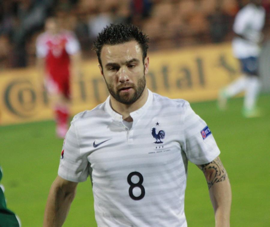 Mathieu Valbuena sous le maillot de l'équipe de France