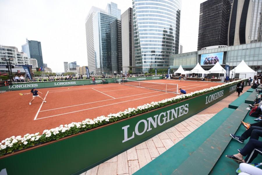 La finale de Longines Future Tennis Aces s'est déroulée samedi 28 mai sur un court en terre battue à la Défense.