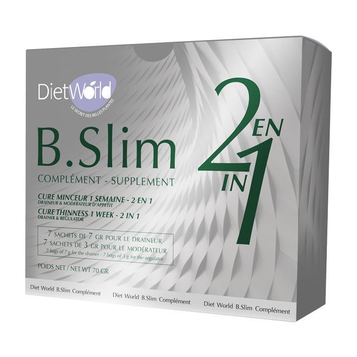 La cure minceur d'une semaine B.Slim 2 en 1(détox + modérateur d'appetit) vous aide à éliminer les kilos superflus avant les vacances d'été.