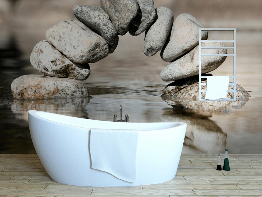 Les papiers peints Myloview pour salles de bain ont la particularité de ne jamais s'abîmer grâce à leur technologie innovante d'impression en latex.