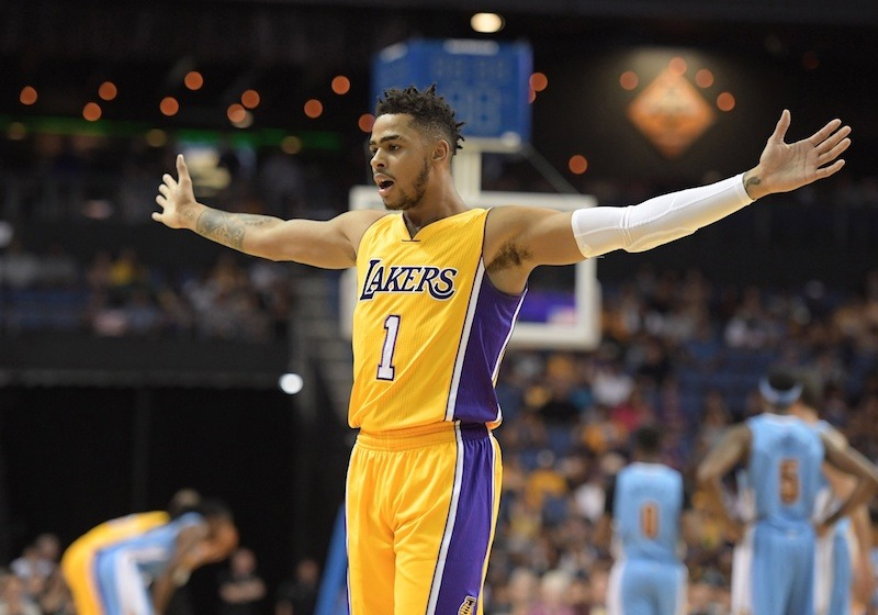 Dangelo Russell Lakers Denver Nuggets Kirby Lee-USA TODAY Sports