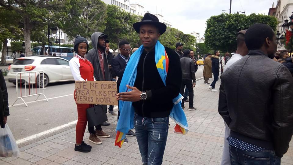 Photo de la manifestation du 25 décembre publiée sur le facebook de l'Aesat