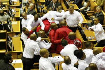 bagarre députés Afrique Du Sud