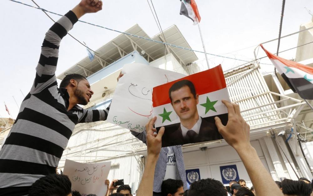 Manifestations à Damas
