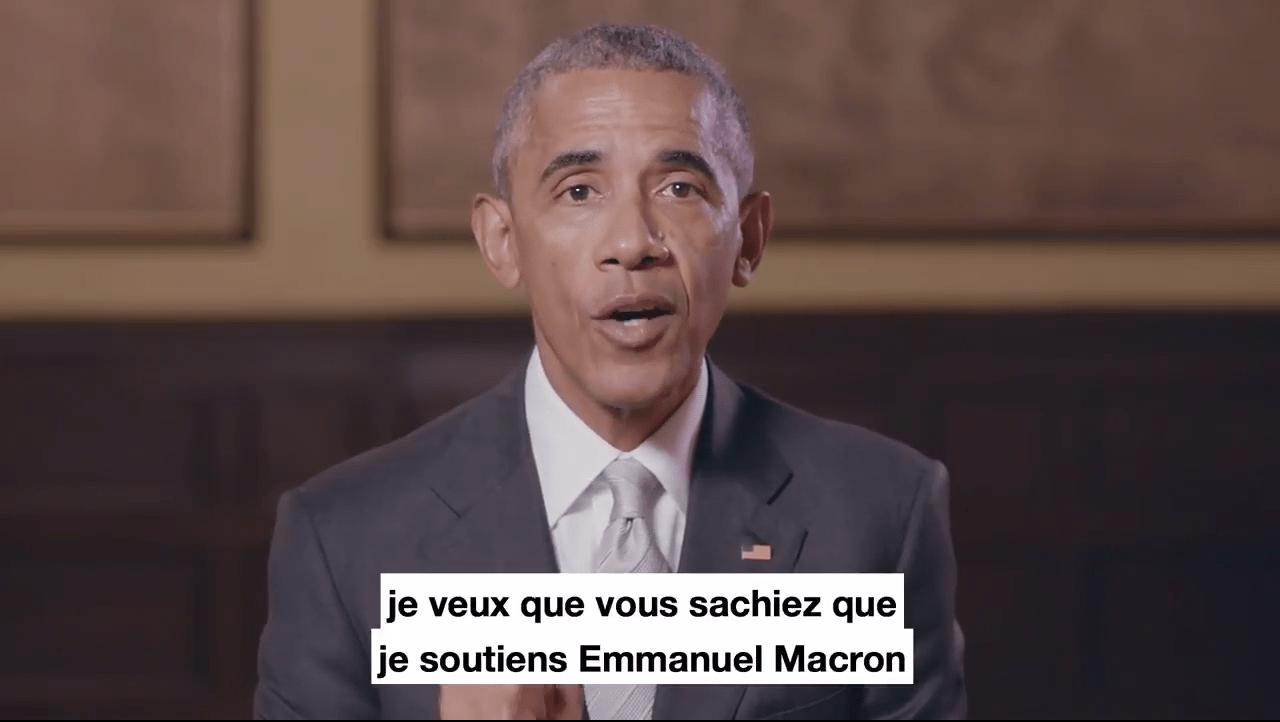Présidentielle : Barack Obama apporte son soutient à Emmanuel Macron