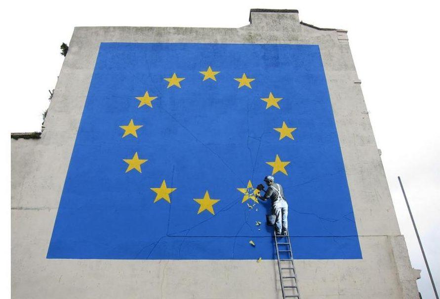 Banksy s'en prend cette fois-ci au Brexit dans sa dernière oeuvre