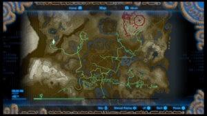Legend of Zelda: Breath of the Wild / Carte