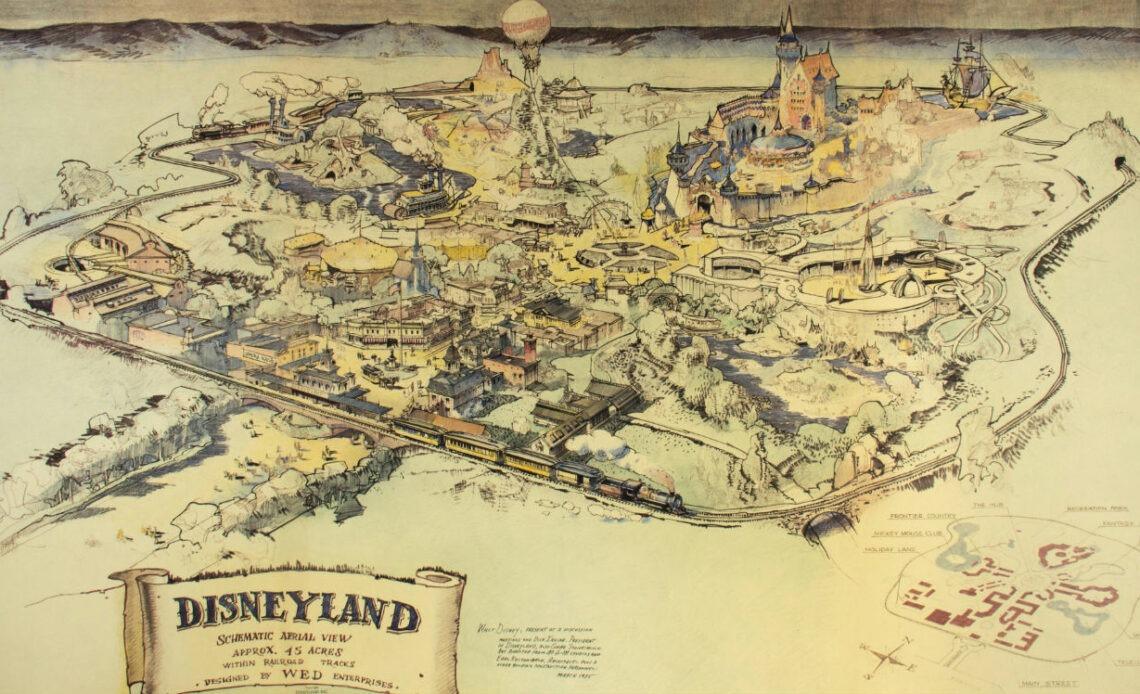 Le plan d'origine du premier parc Disneyland vendu pour 700 000 dollars