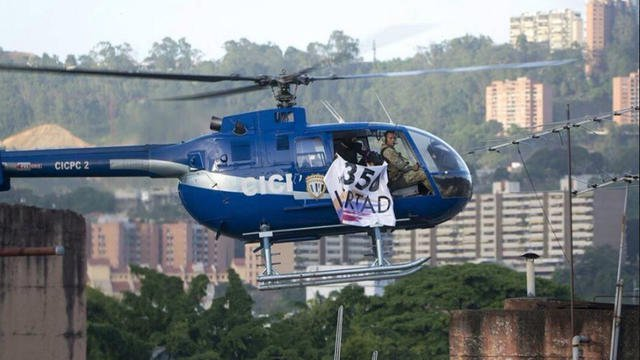 venezuela la cour suprme et le ministre de lintrieur attaqus par un hlicoptre