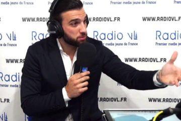 Aymeric Bonnery dans le studio Radio VL