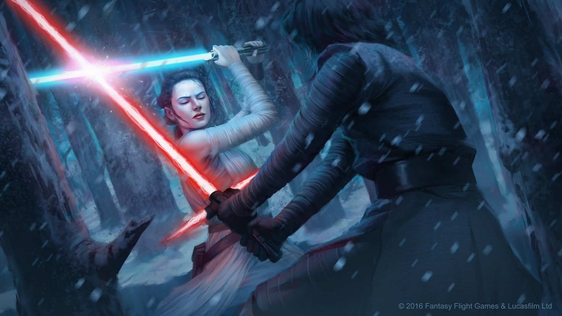 Star Wars Destiny Rey vs Kylo