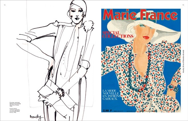 Le dessin de Mouchy en Une de Marie-France