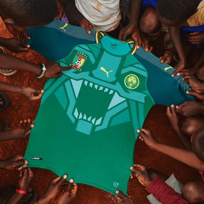 8566935f84 Puma dévoile le nouveau maillot du Cameroun x MHD x Roger Milla