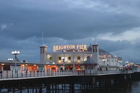 Brighton Pier vu de la plage