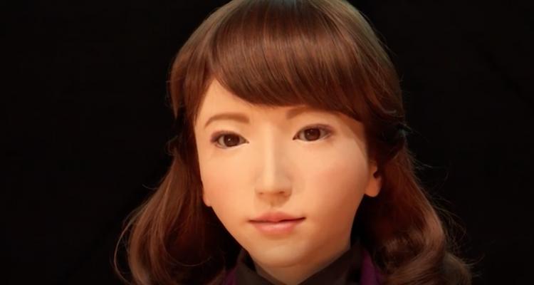 Un robot à la présentation du journal au Japon