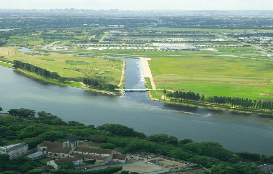L'ensemble de l'usine d'épuration Achères Seine Aval qui s'étend sur 800 hectares et dont la modernisation a été lancée par un appel d'offres du SIAAP ©SIAAP