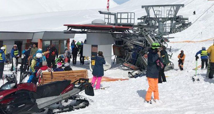 Impressionnant accident de télésiège en Géorgie, plusieurs skieurs éjectés