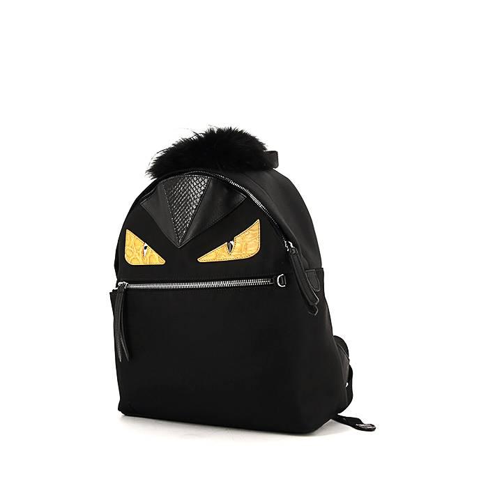 et dos cuir jaune et noire fendi bag sac toile en 00pp bugs et 5pOvqxw