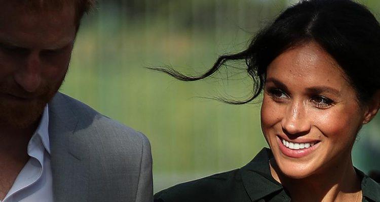Le prince Harry et son épouse Meghan, le 3 octobre 2018 à Brighton, au Royaume-Uni. (DANIEL LEAL-OLIVAS / AFP)