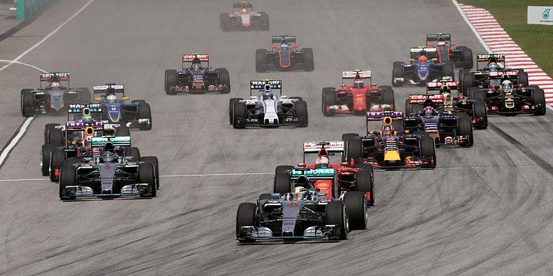Départ du Grand Prix de F1 de Malaisie.