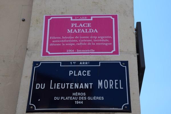 Place du Lt Morel est devenue Place Mafalda (Crédits: SS/Rue89Lyon)