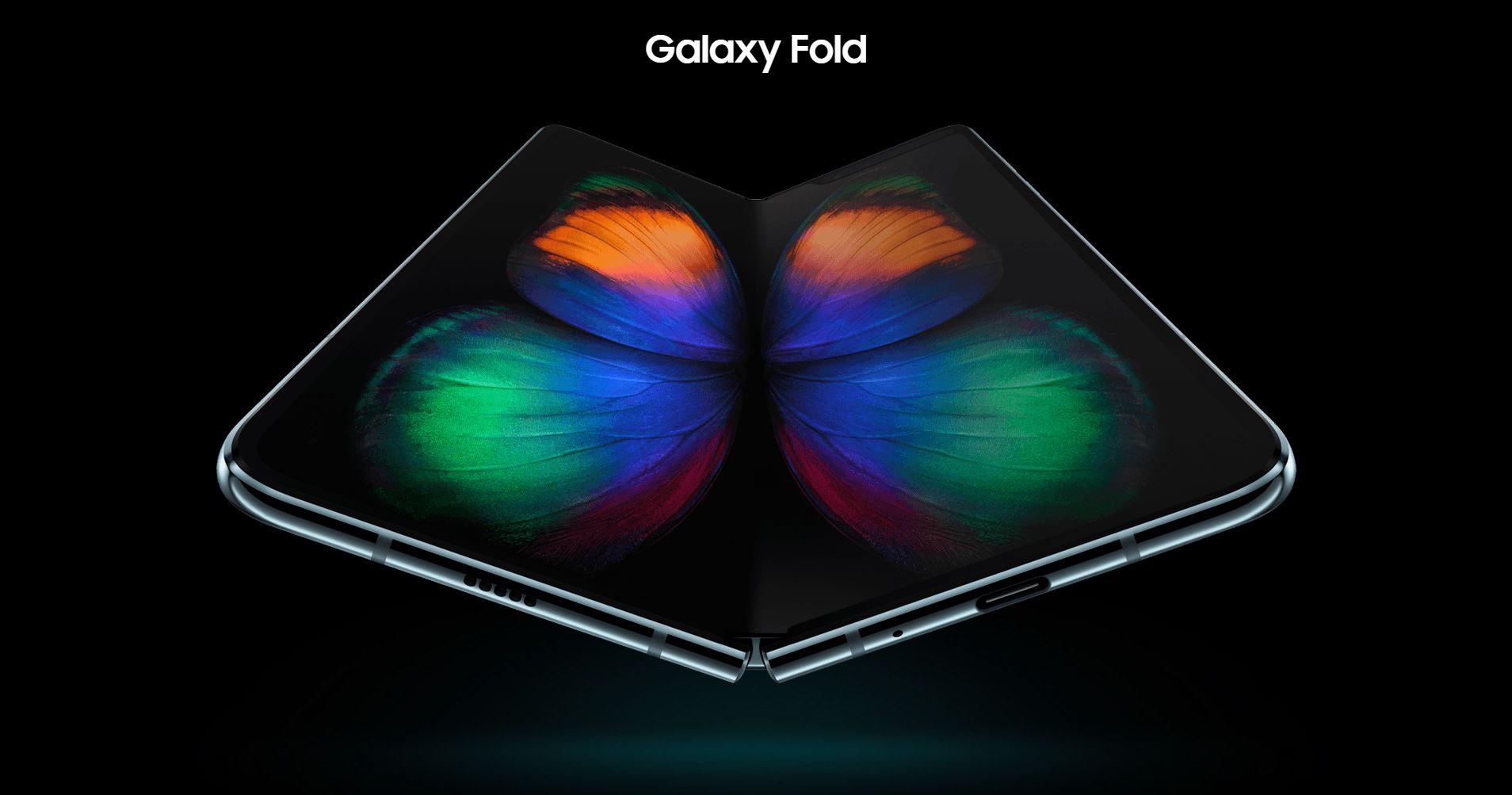 Photo du galaxy fold se repliant sur lui même