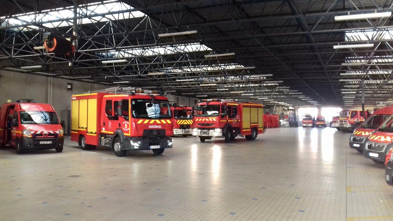 Photo d'une caserne de pompier