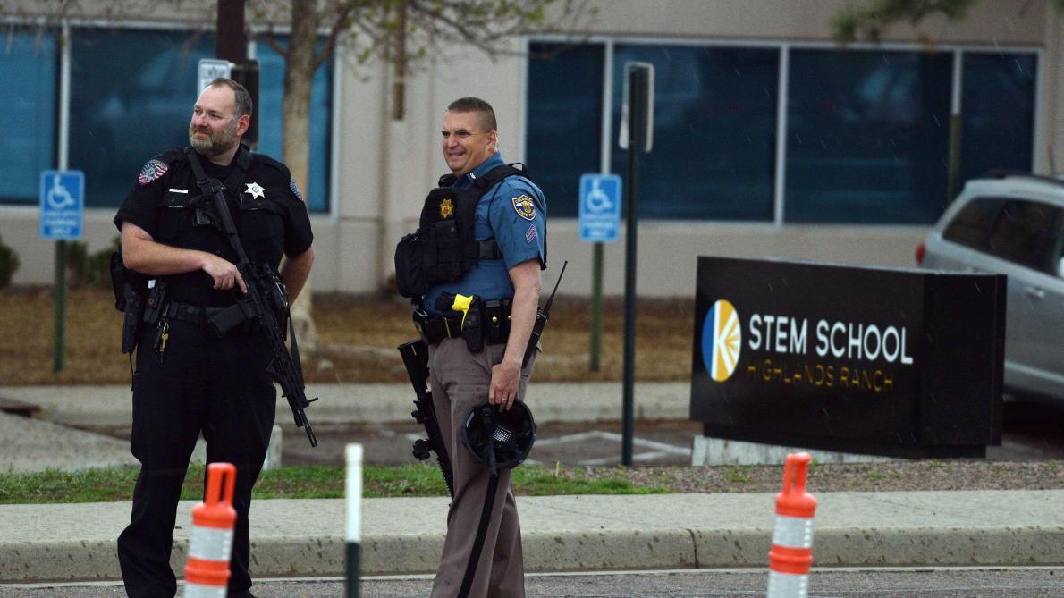 Photo des forces de l'ordre lors de la fusillade