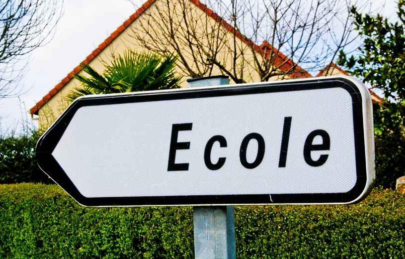 """Panneau """"école"""""""