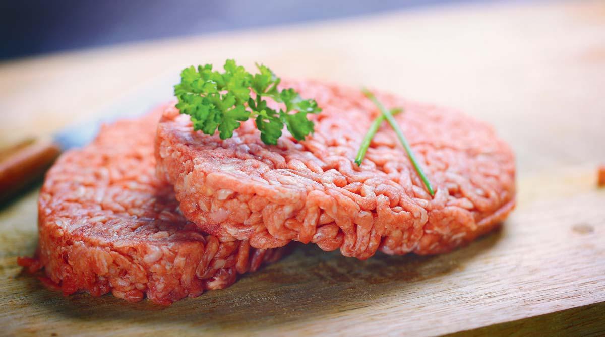Photo d'un steak haché