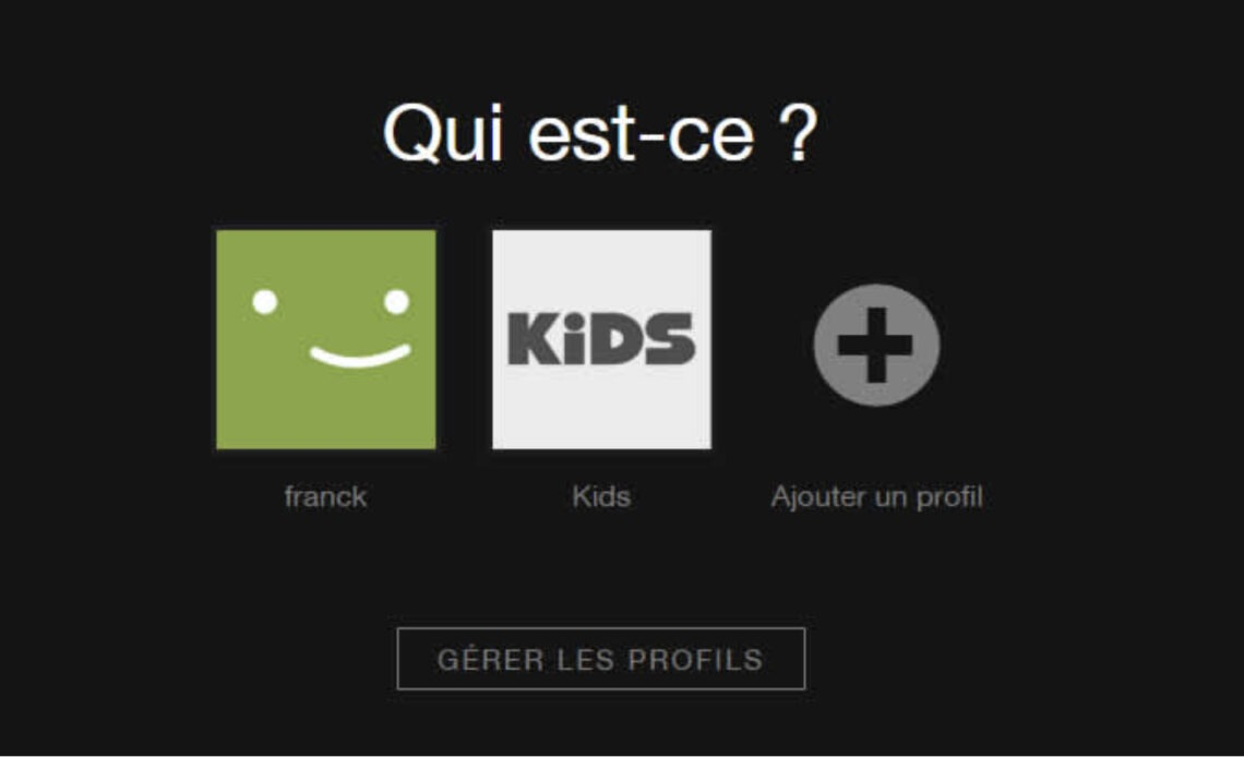 Choix du profil Netflix