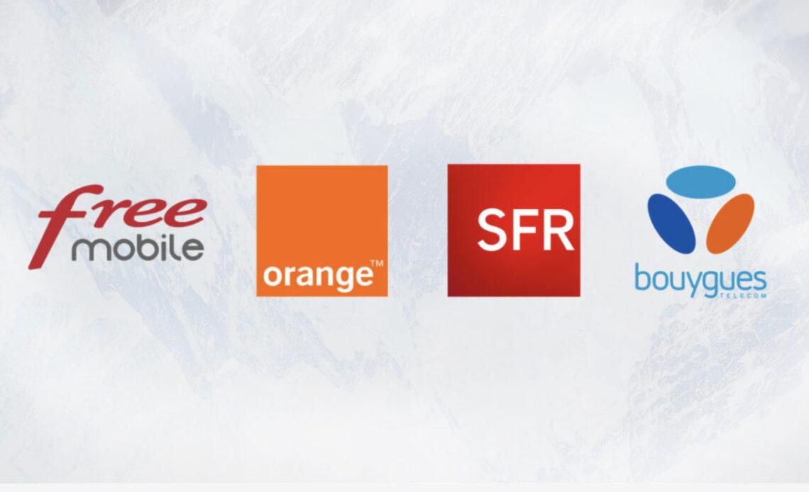 Logo des 4 opérateurs majeurs en France