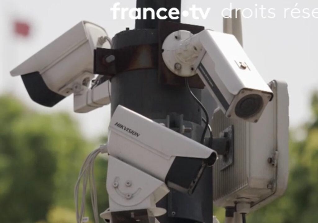 Trois cameras utilisées pour noter les citoyens chinois