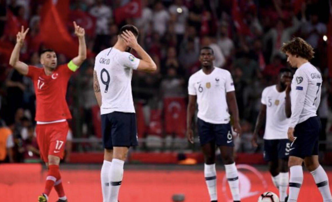 Photo lord de la défaite de la France face a la Turquie en juin dernier