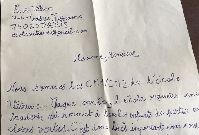 Lettre écrite par un(e) élève de CM1/CM2 de l'éloge Vitruve