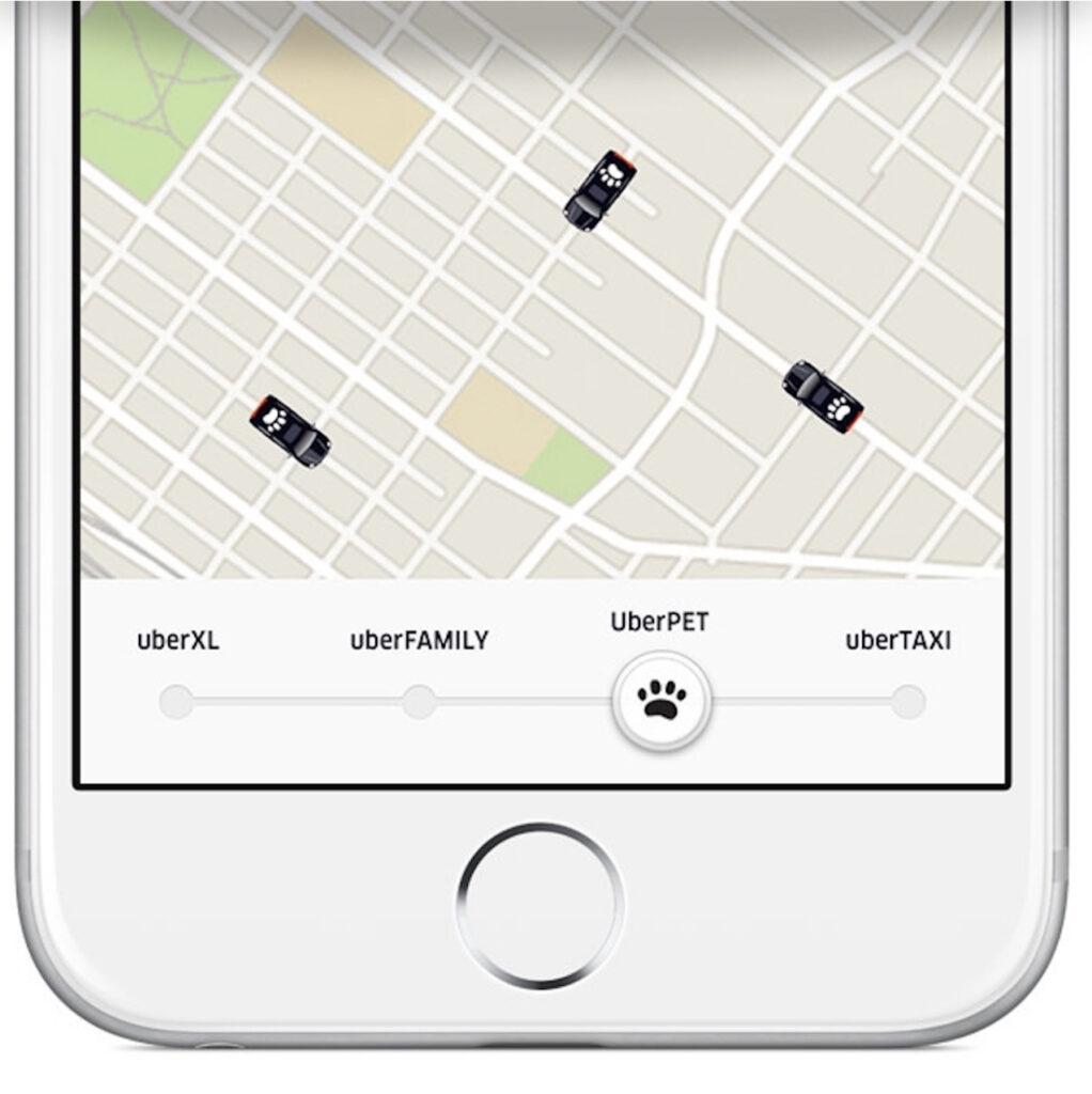 Intercale Uber avec Uber Pet