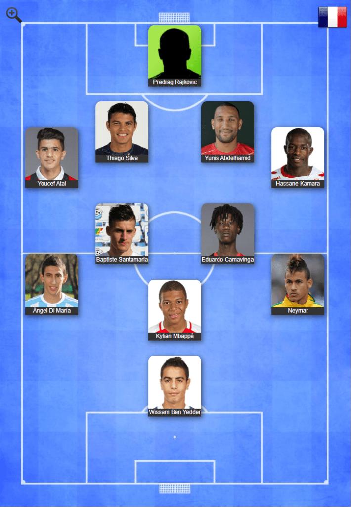 Equipe type mi-saison 2019/2020 de Smail Bouabdellah