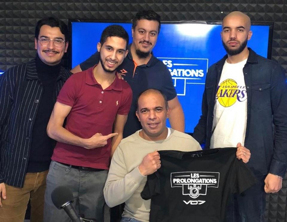 L'équipe des Prolongations et Karim Djaziri