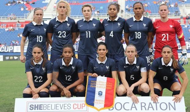 Les bleues lors de la She Believes Cup, compétition semblable au futur Tournoi de France