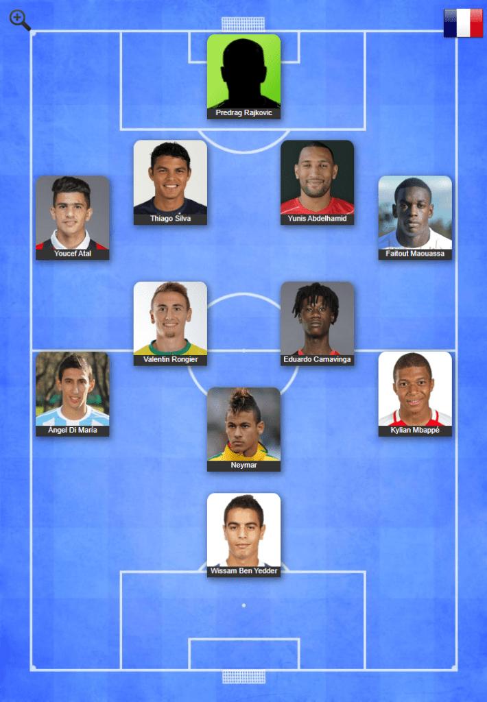 Equipe type mi-saison 2019/2020 Les Prolongations