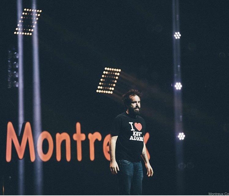 Aymeric Lompret sur la scène de Montreux